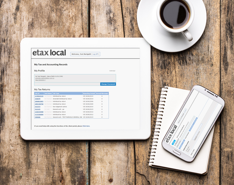 Etax Local Client Portal On Devices